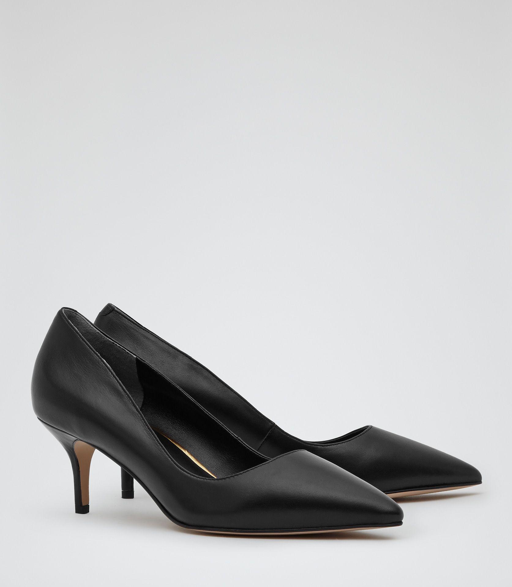 Holly Black Kitten Heel Court Shoes Reiss Ladies Shoes Designer Black Kitten Heels Kitten Heels