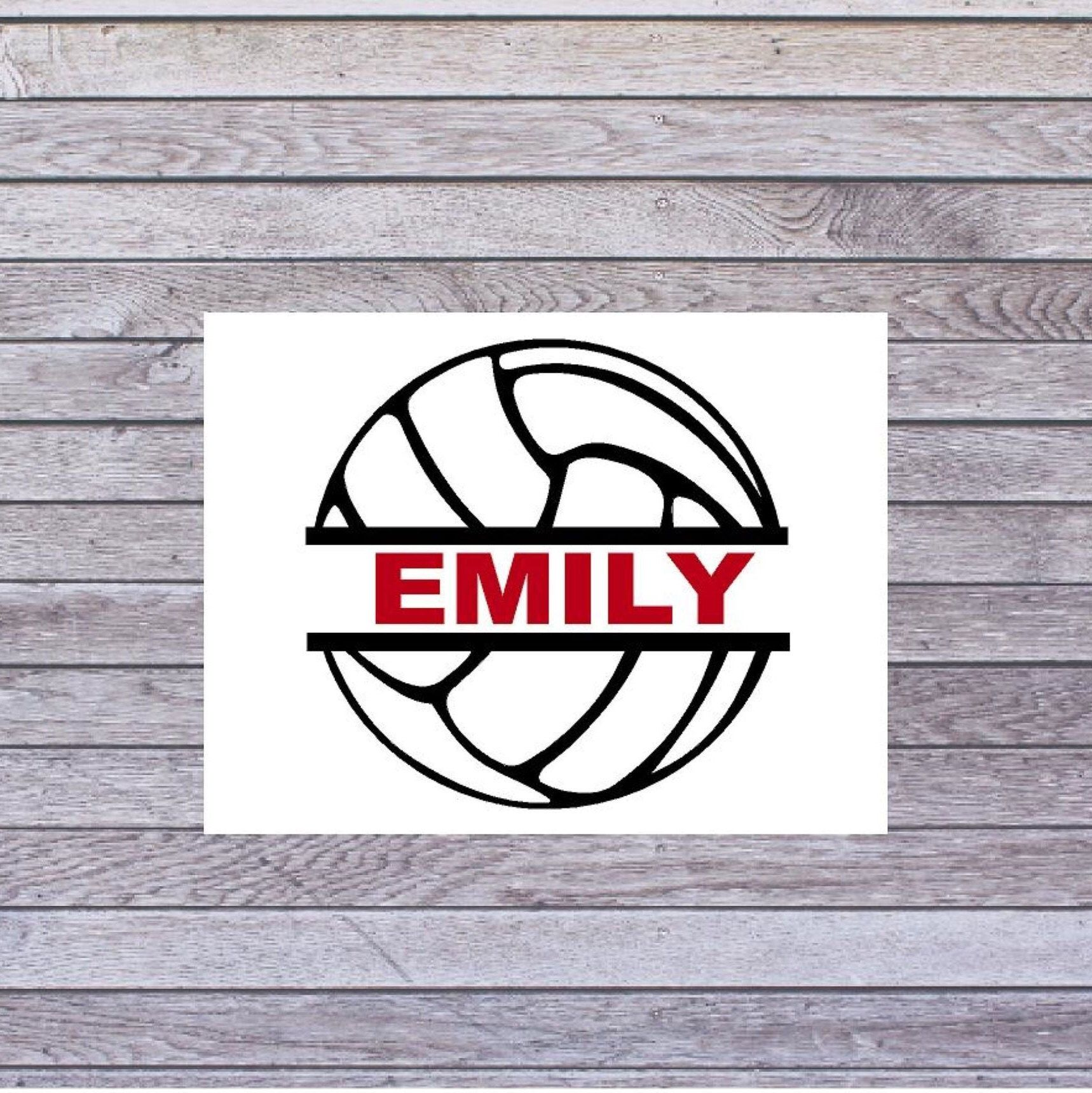 Volleyball Tumbler Decal Volleyball With Name Decal Custom Name Decal Volleyball Vinyl Name Decal Tumbler Decal Tumbler Kids Decals [ 1720 x 1718 Pixel ]