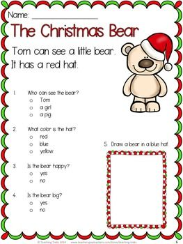 Christmas Activities: Christmas Reading Comprehension Passages and ...