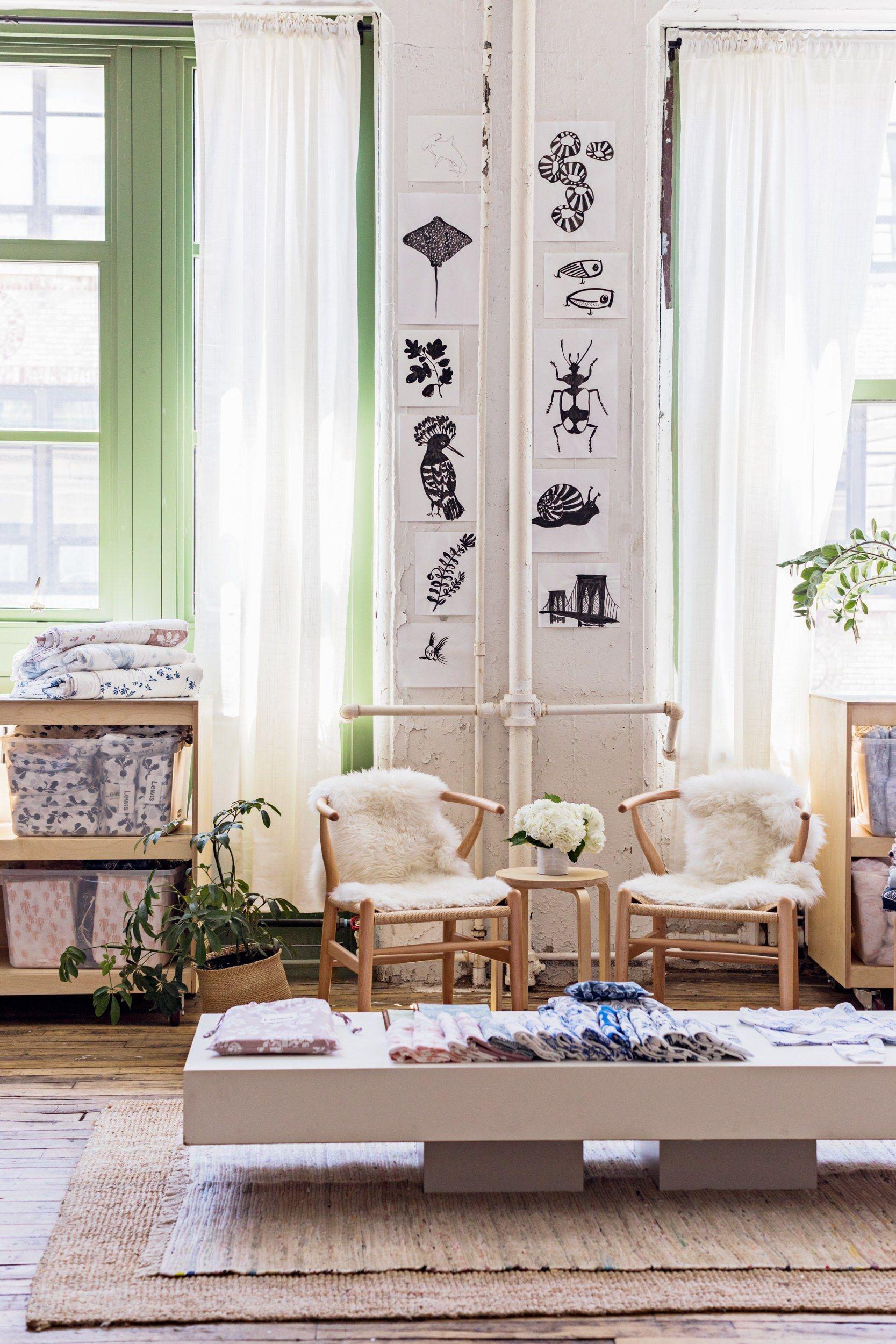 Lewis Nursery Textile Design Brooklyn Studio Tour   Tables