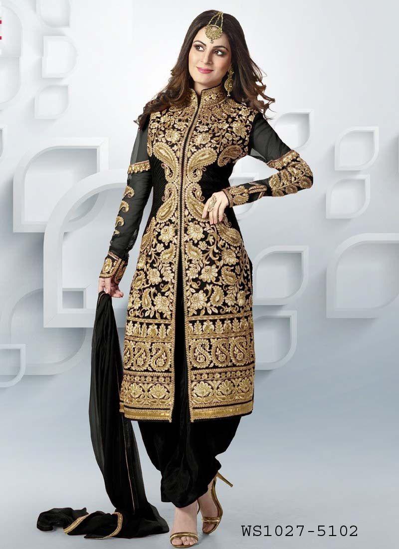 Online Shopping for Black Designer Patiala Style Salwar | Salwar ...