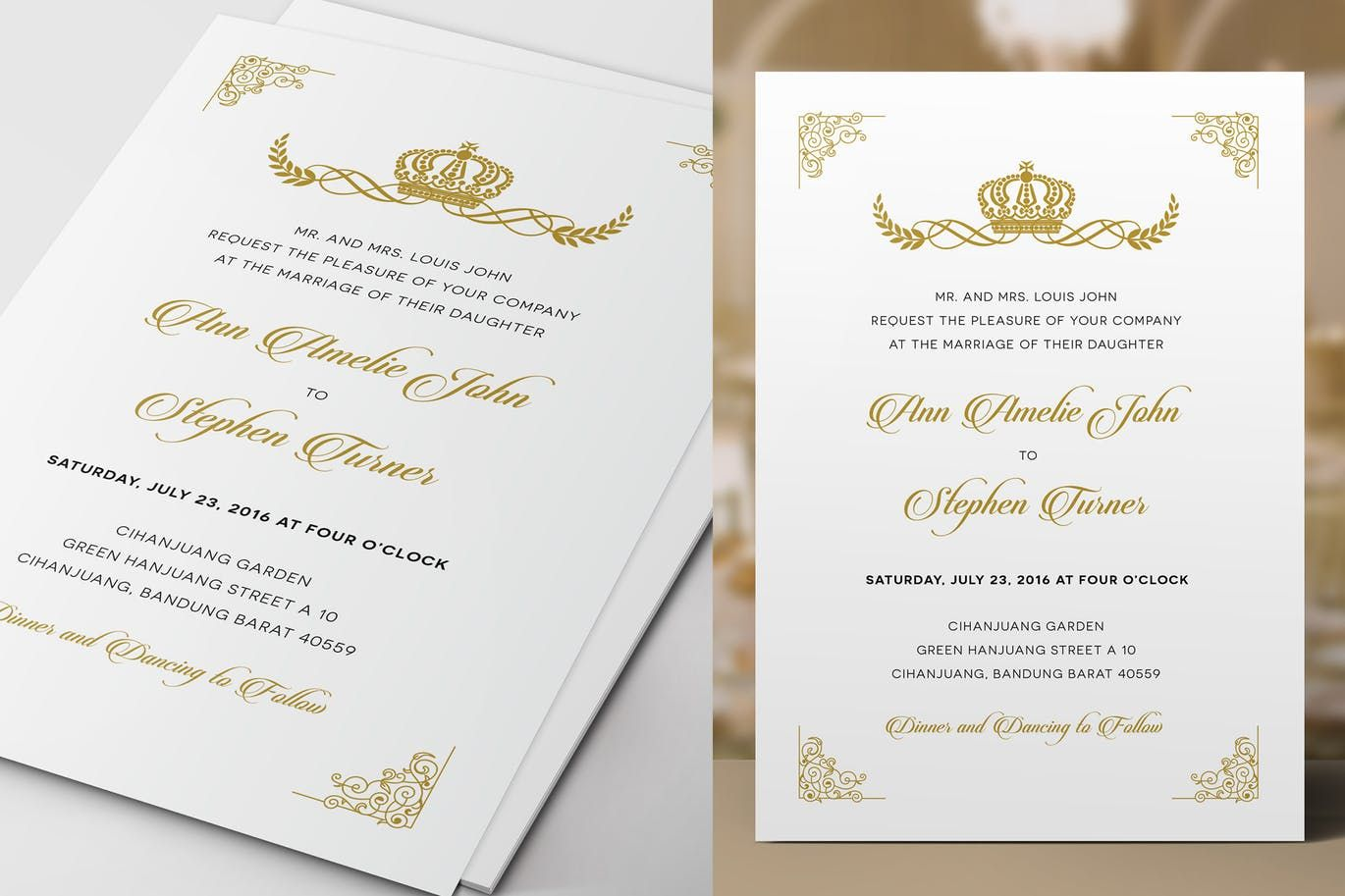 Royal Wedding Invitation By Aarleykaiven On Envato Elements Royal Wedding Invitation Cinderella Wedding Invitations Modern Wedding Invitation Wording