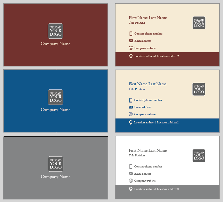 Linear Tradition Business Card Template | Design Tool Templates ...