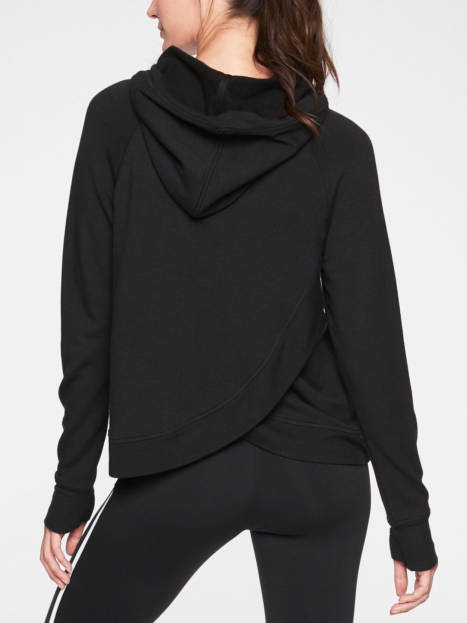 Criss Cross Back Hoodie Sweatshirt Athleta Running Clothes Sweatshirts Hoodie Long Hoodie [ 2000 x 1500 Pixel ]