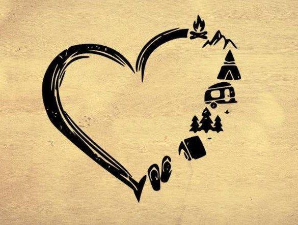 Download Heart Camping digital file instant download svg pdf png ...