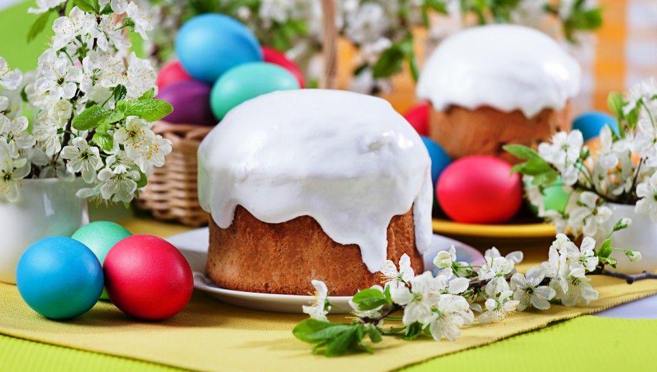 Скачать обои easter, eggs, пасха, кулич, яйца, глазурь, раздел праздники в разрешении 960x544