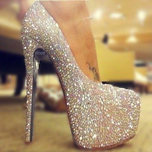 Sparkly heels, Heels, Glitter heels