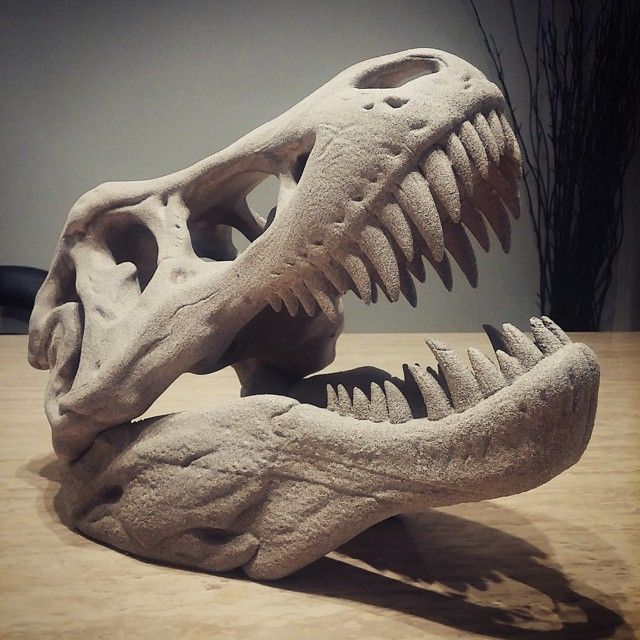3dprinting Sculpture Artist: #Tyrannosaurus # 3dprinting #thingiverse #t-rex