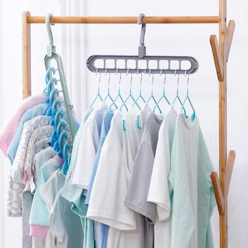 Magic Multi Port Support Circle Clothes Hanger Clothes Drying Rack Mul House Insides Clothes Drying Racks Plastic Clothes Hangers Hanger Storage