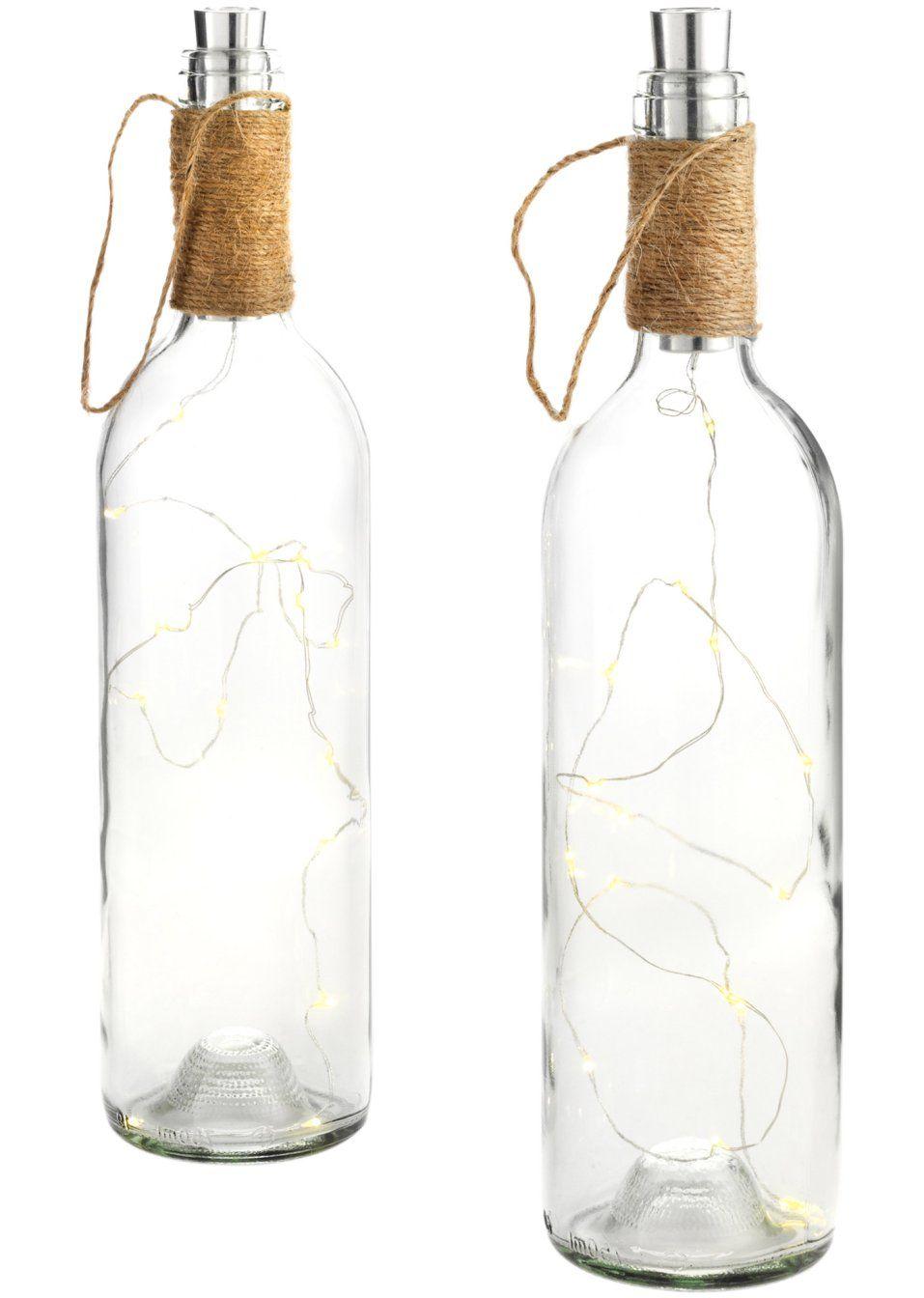Decoration A Led Bouteille De Vin Diy Deko Ideen Weinflaschen