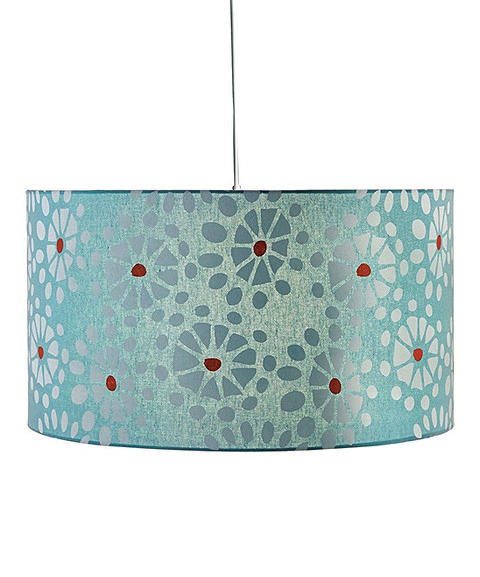 Loving this Floral Burst Drum Hanging Pendant Lamp on #zulily! #zulilyfinds
