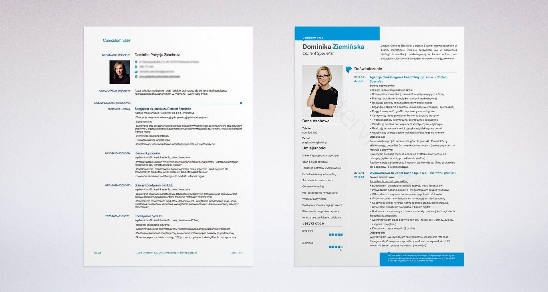 jak znaleźć pracę? Curriculum vitae, Curriculum