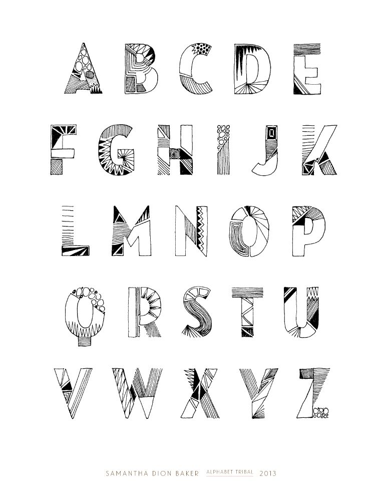 typography | Tribal Alphabet by @sdionbaker | Typography