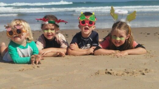 For christmas cards this year A couple of $2 props and our local beach = aussie chrissy