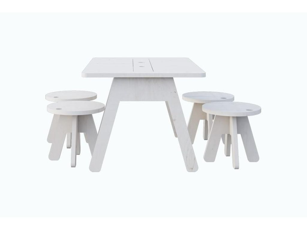 Kutikai Peekaboo Kids Table And 4 Chair Set Baby Toddler  # Muebles Kutikai