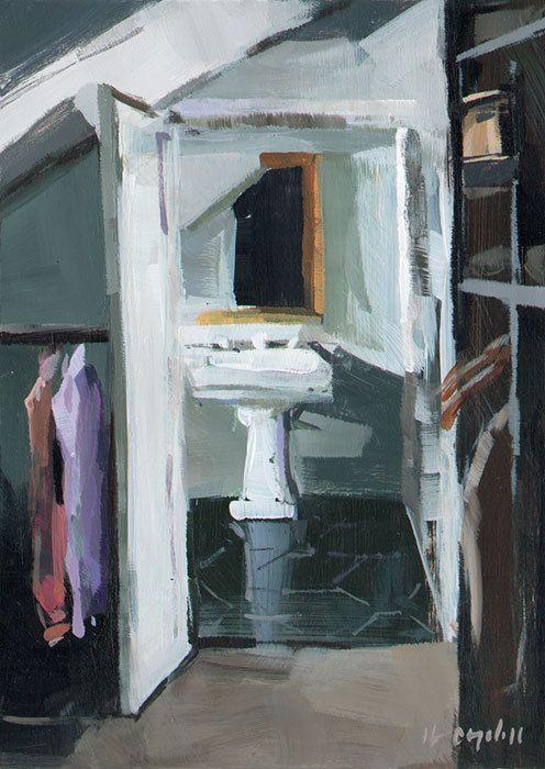 Art Print Male Masculine Closet Dressing Room Sink 5x7 on 8x10 - Sink by David Lloyd. $14.00, via Etsy.