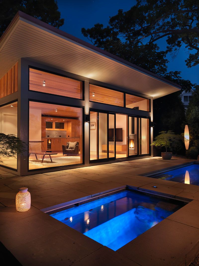 Flavin Architects Design A Poolside Guest House ...