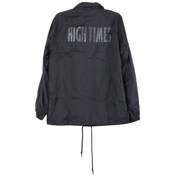 HUF High Times Coaches Jacket ($75) ❤ liked on Polyvore featuring outerwear, jackets, coach jacket, huf and huf jacket