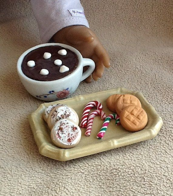 American Girl no-sew dress #americangirldollcrafts Plate of cookies for NextGen's doll.  How cute is this? #americangirlhouse