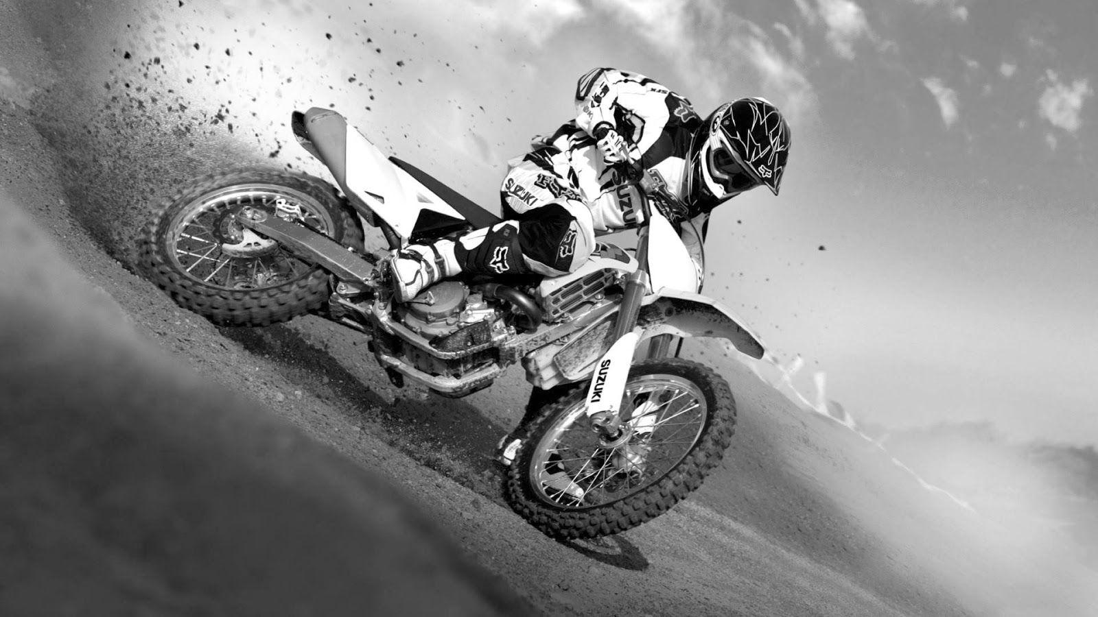 Dirt Bike Black And White Wallpaper Yamaha Dirt Bikes Motorcross Suzuki Motocross