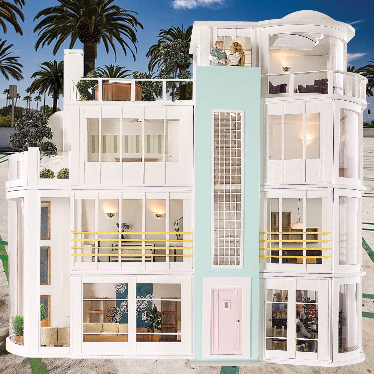 Malibu beach house dollhouse and miniatures pinterest for 7047 design hotel