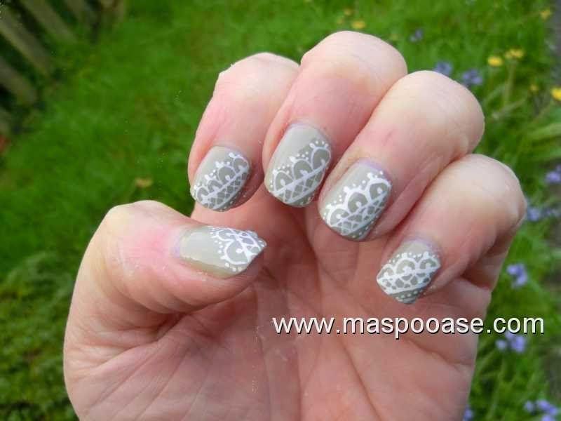 Easy Lace Nail Art Nail Art Motifs Pinterest Lace Nail Art