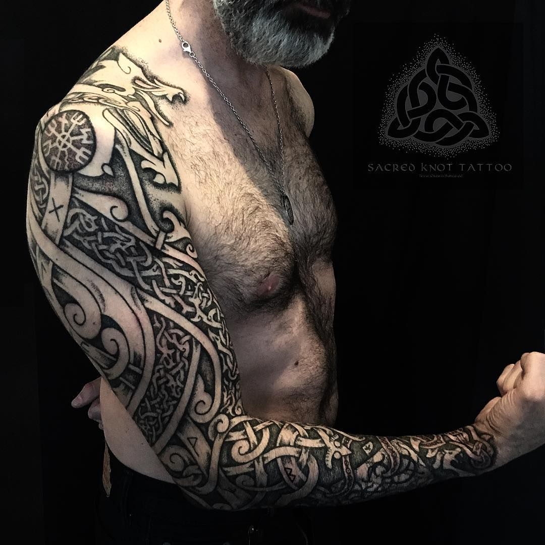 Daniels Viking Wolf Prow Sleeve. This Piece Is Inspired By