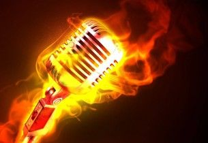 Hot Microphone Fire Flame Metal Desktop Background Hd Free Music Wallpaper Music Backgrounds Microphone