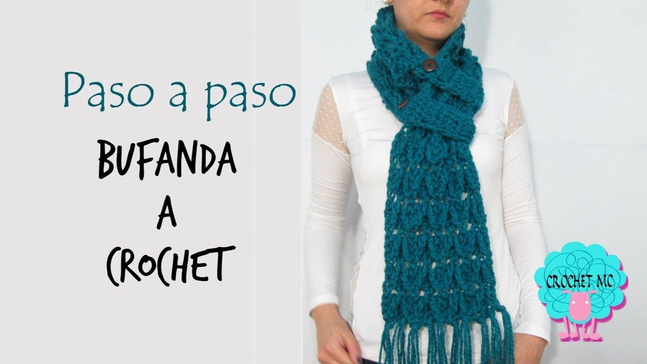 Tutorial bufanda punto flecha a crochet | Mis cosas | Pinterest ...