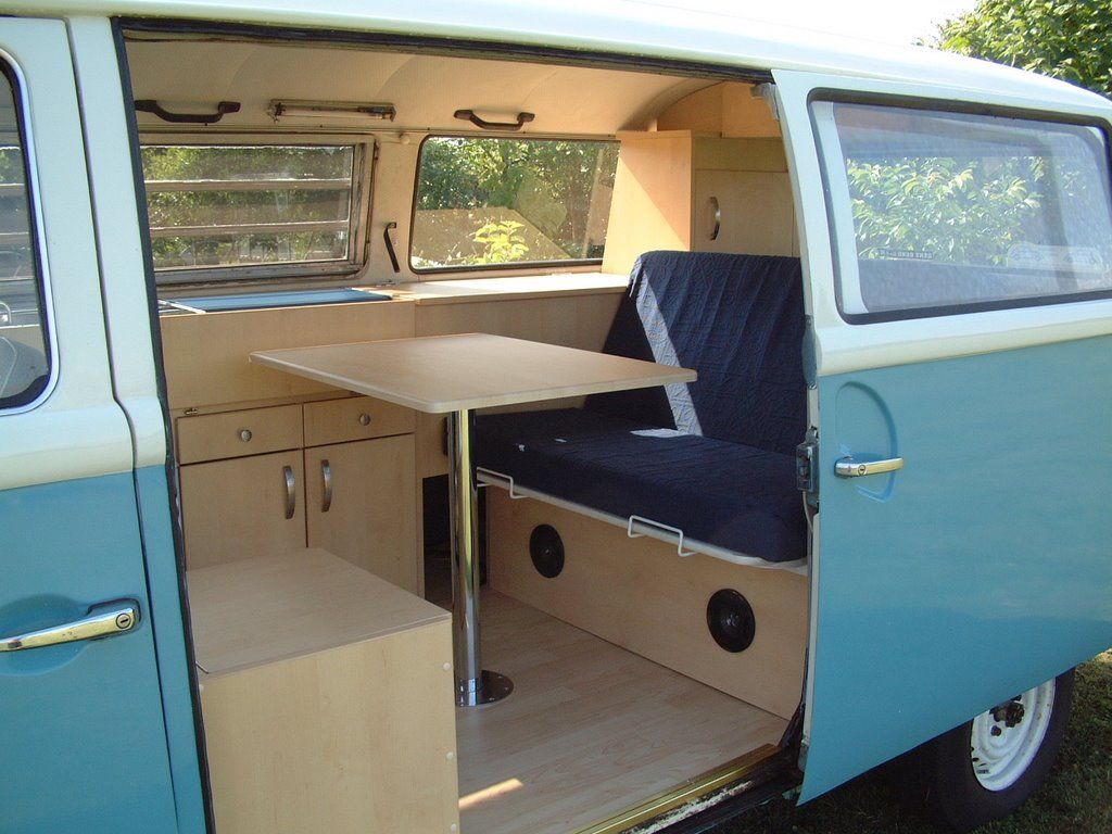 Wooden vw campervan interiors bus kombi camper love for Vw kombi interior designs