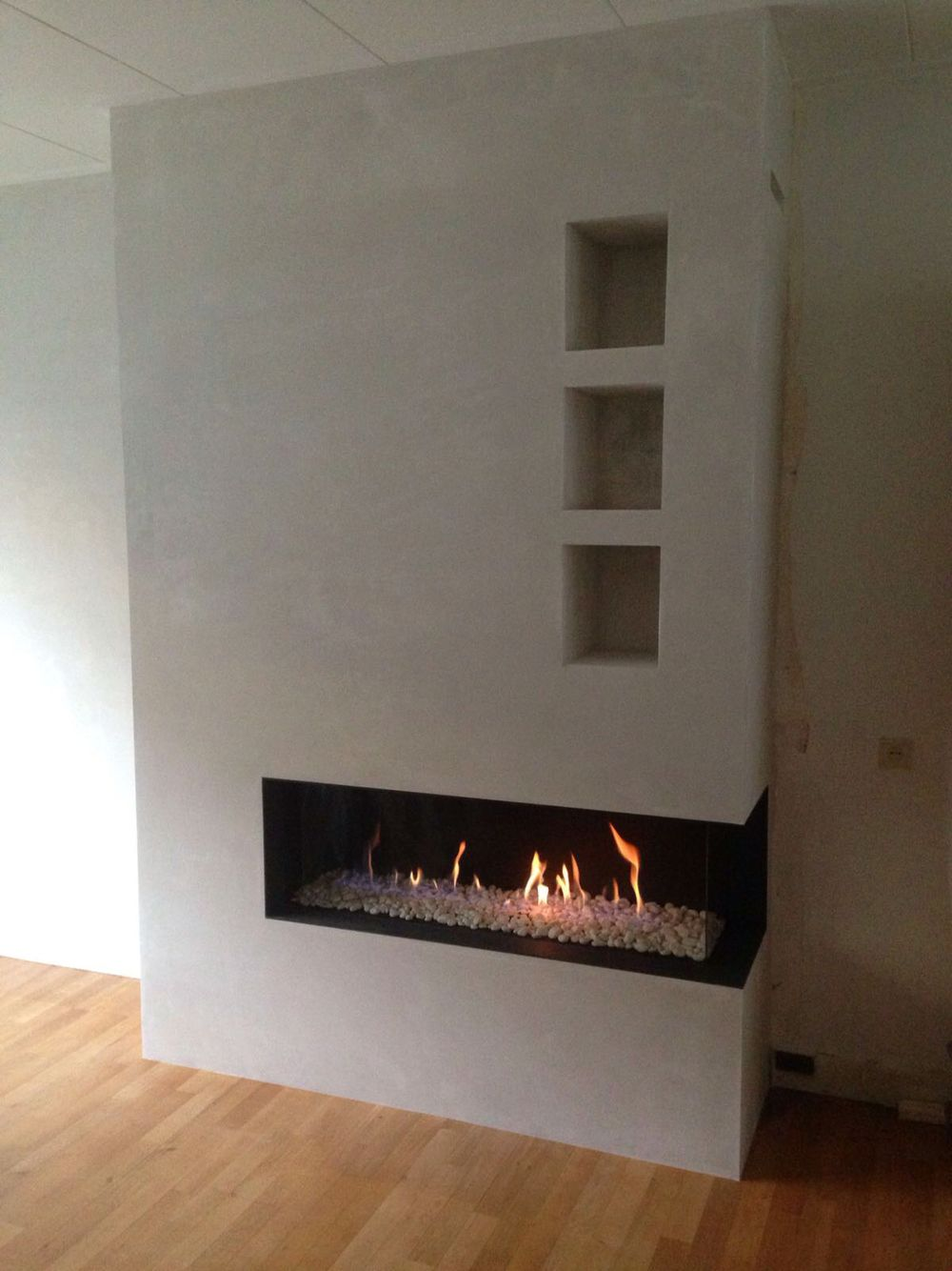Hoek haard bellfire gas open haard pinterest haard open haarden en openhaard - Moderne hoek lounge ...