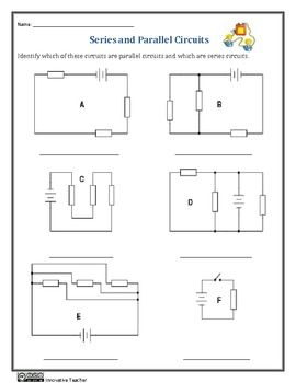 Series and Parallel Circuits Worksheets #Circuitsreview, #