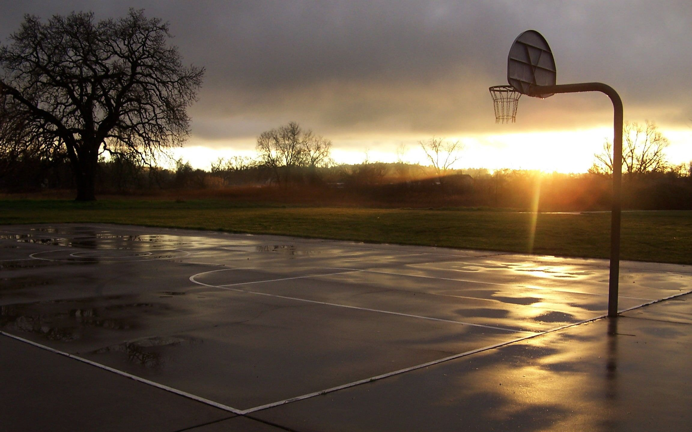 Basketball Sport Sports Basketball Court Sunset Hoop Wet 1080p Wallpaper Hdwallpaper Des In 2020 Street Basketball Basketball Background Basketball Wallpaper