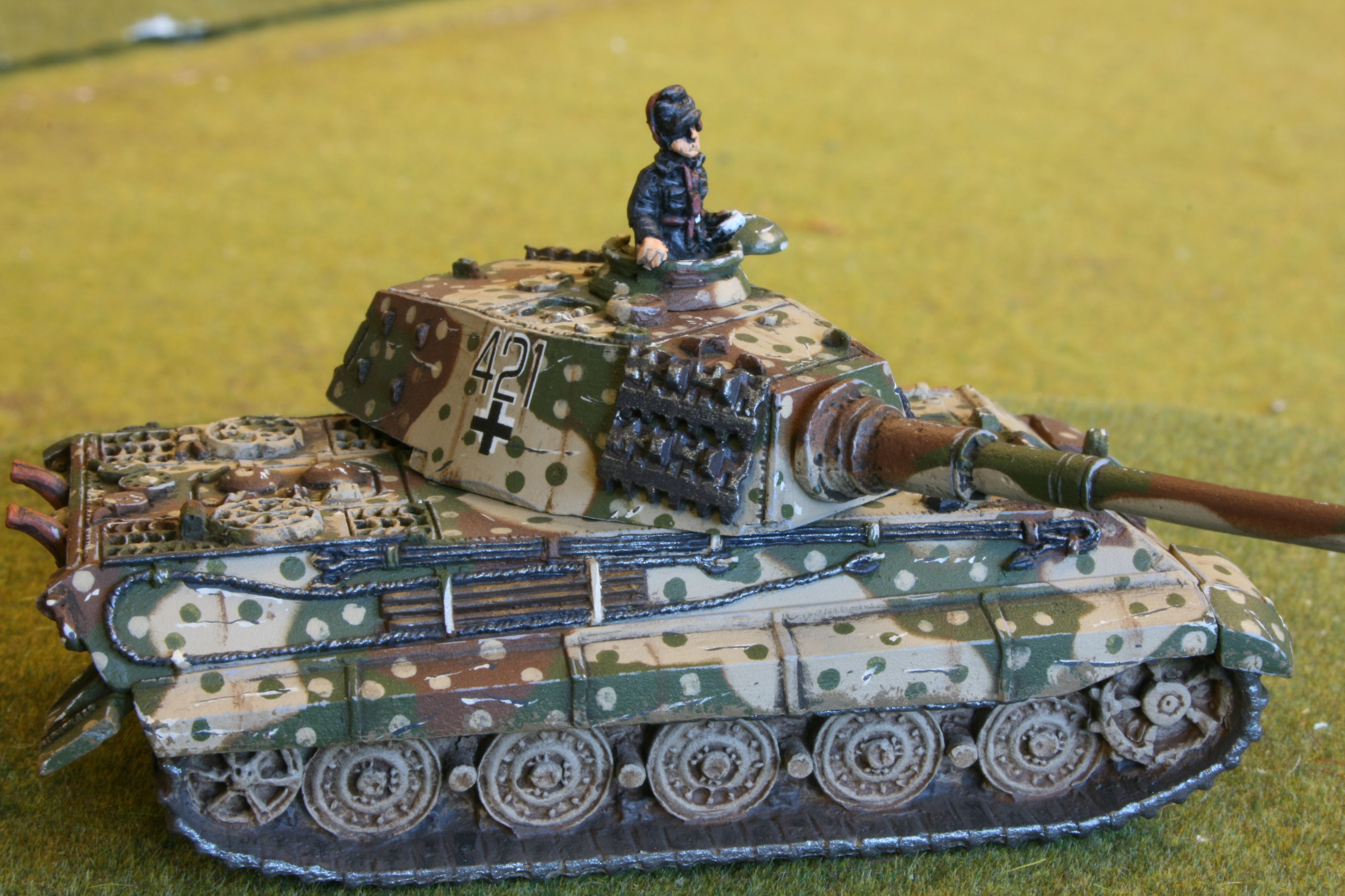 Flames Of War Late King Tiger In Ambush Camo Painted By