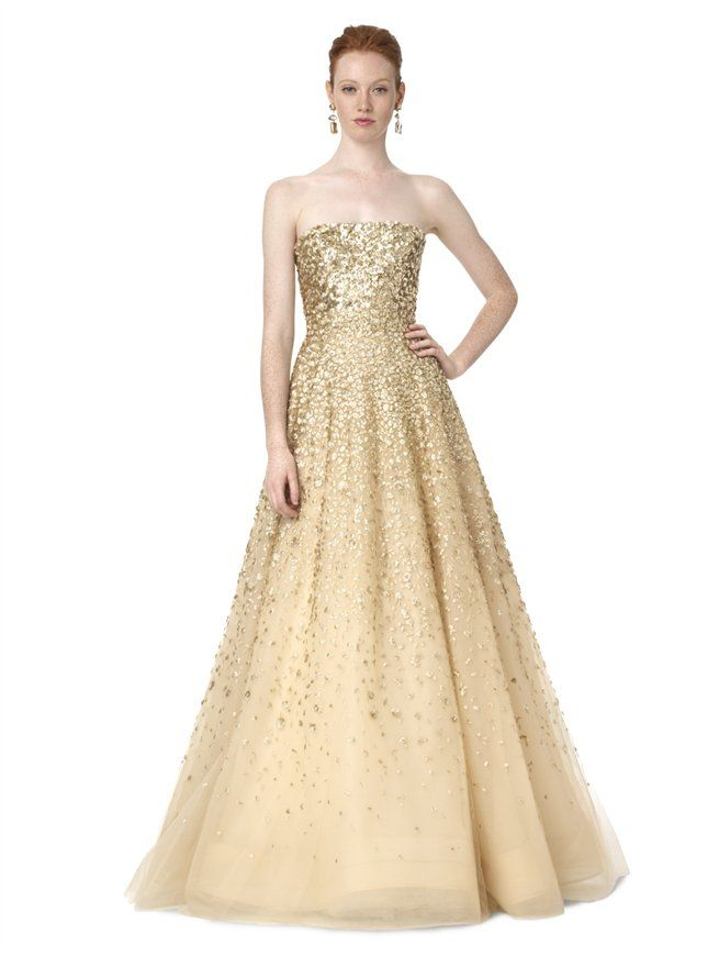Strapless Embroidered Gown Oscar De La A Gowns Designer Evening By 11650 00 Sigh Hence The Dream Dress