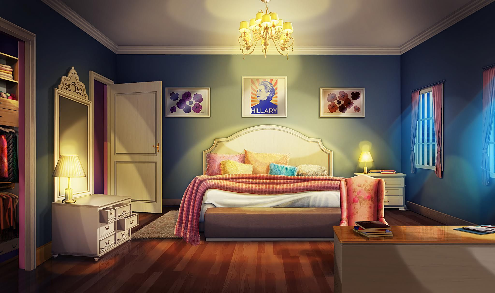 Int bristols bedroom night episode pinterest for Scenery wallpaper for bedroom