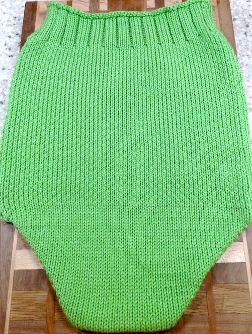 Machine Knit Mock Seed Stitch Baby Cocoon | Pinterest