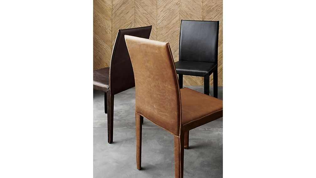 Folio Sienna Top Grain Leather Dining Chair Allure Crate And Barrel