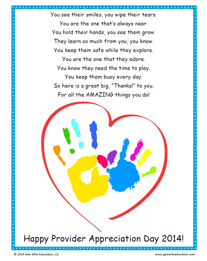 Daycare Provider Appreciation Gifts Daycareproviderappreciationgifts Happy Provid In 2021 Teacher Appreciation Poems Preschool Teacher Gifts Daycare Teacher Gifts