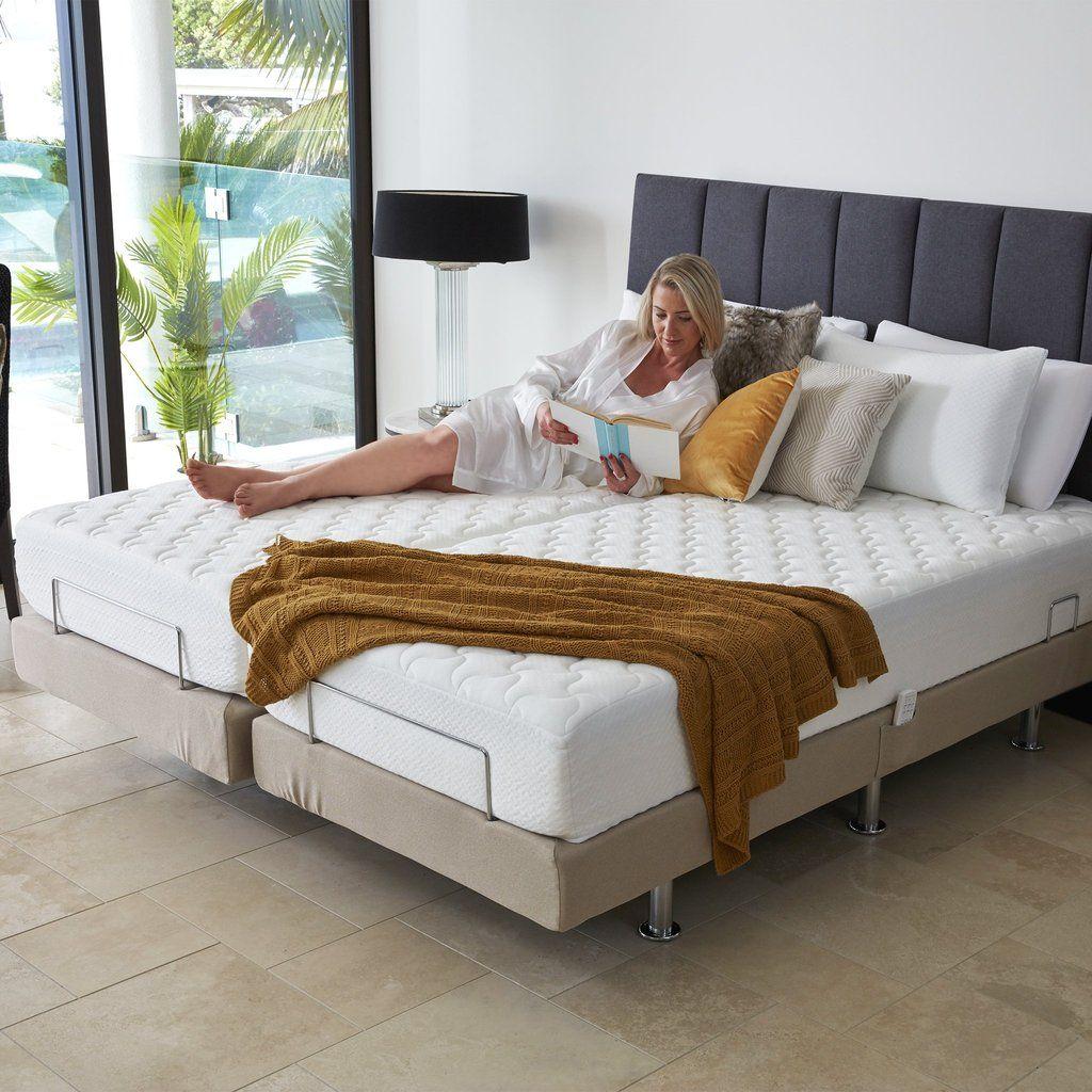 Split King Luxury Adjustable Massage Bed in 2020 Bed