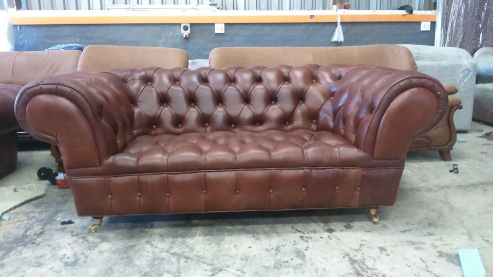 Vintage 1930 Chesterfield In 100 Real Leather From Born Furniture This Vintage Che Genuine Leather Couches Leather Chesterfield Sofa Furniture