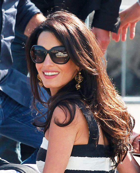 Long Celebrity Hairstyles | Amal clooney, Celebrity and Hair style