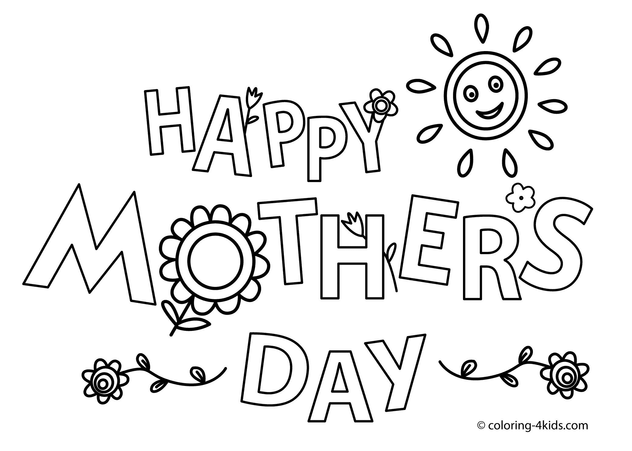 mothers day coloring pictures to print best of happy mother s day coloring pages for kids printable free of mothers day coloring pictures to print