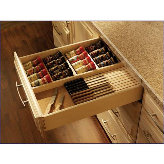 Drawer Organizer All Wood E And Knife Dovetailed With Scoops Available In Baltic Birch Or Soft Maple By Ccf Industries Kitchensource
