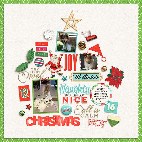 All Is Calm The Lilypad using Holiday Cheer Dolled Up Templates - holiday templates for word