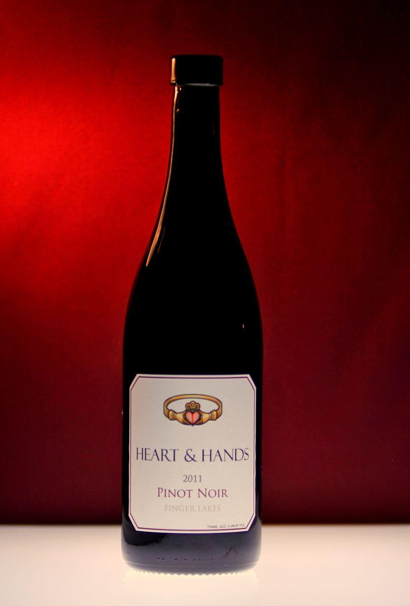 Heart Hands Wine Company Pinot Noir Finger Lakes Wine Pinot Noir Wine Bottle