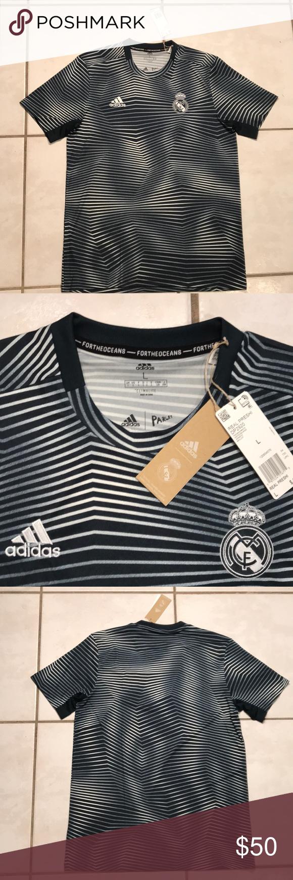 Nwt Adidas Real Madrid Pre Match Jersey Dp2920 Real Madrid Adidas Fashion