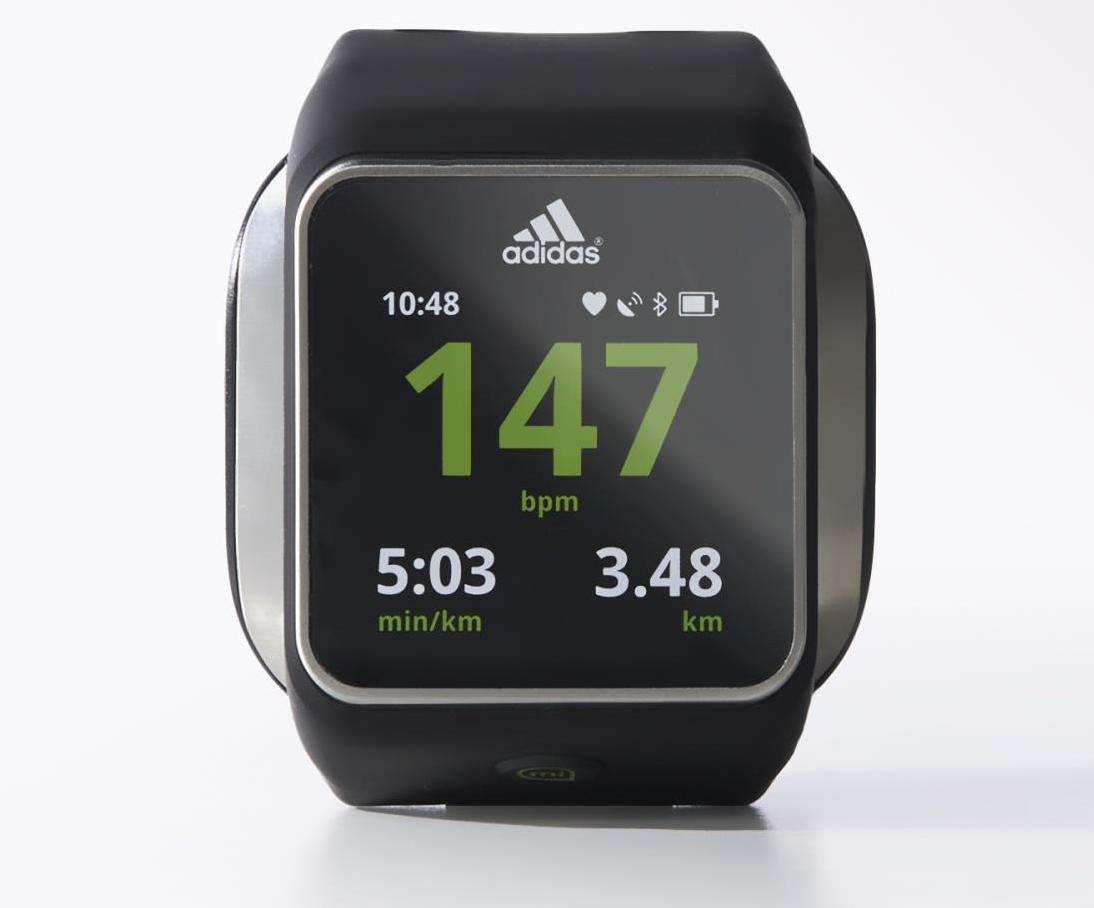 48f104279f9 Relógio  miCoach Smart Run by  Adidas  smartwatch