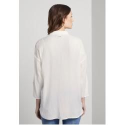 Camisa extragrande para mujer Tom Tailor Denim, blanca, lisa, talla xxl Tom TailorTom Tailor