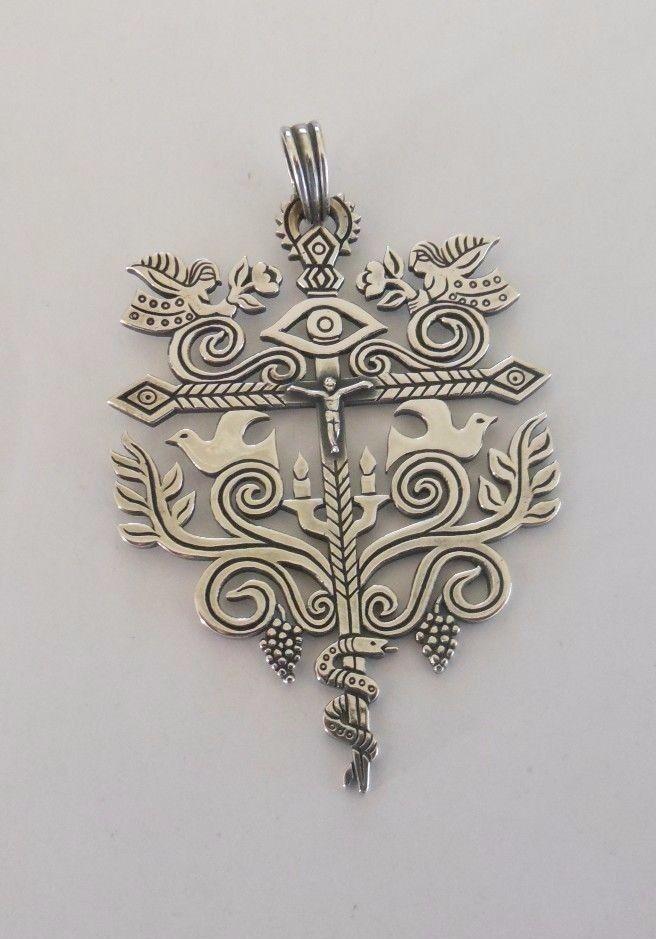 James avery sterling silver large creation cross pendant rare retired aloadofball Choice Image